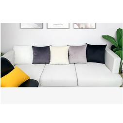 Luxury White Black Gray Velvet Cushion Cover <font><b>Pillow