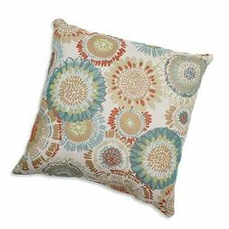 Pillow Perfect Maggie Mae Aqua Throw Pillow, 16.5-Inch, Mult