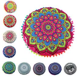 Mandala Floor Pillows Cases Tapestry Bohemian Throw Meditati