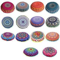 Mandala Large Round Floor Pillow Boho Meditation Throw Pillo