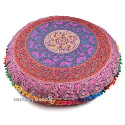 Mandala Round Case Cushion Cover Floor Pillow Bohemian Throw