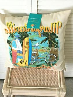Maragritaville throw pillow double sided 2 different designs