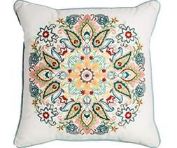 Threshold Medallion Embroidered Throw Pillow