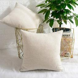 MERNETTE Pack of 2, Chenille Soft Decorative Square Throw Pi