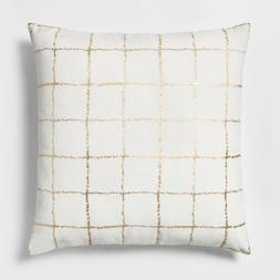 Threshold Metallic Grid Oversize Square Throw Pillow - Proje