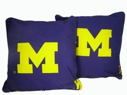 "Michigan Wolverines 16"" x 16"" Decorative Toss Pillow"