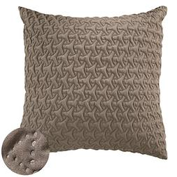 Deconovo Microfiber Throw Pillow Cover Home Decorative Hand
