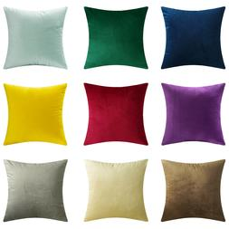 Microfiber Velvet Throw Pillow Covers Decorative Cushion Pil