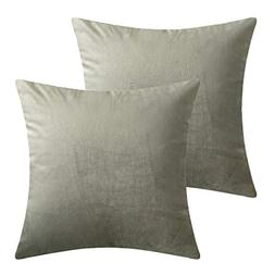 LANSA Microfiber Velvet Throw Pillow Covers Decorative Pillo