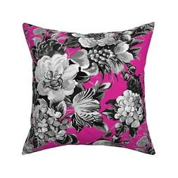 Midcentury 50S Modern Floral Throw Pillow Cover w Optional I