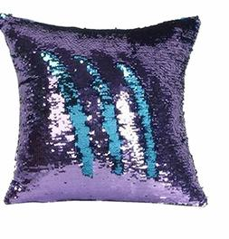 MOCOFO Two-Tone Sequins Pillow Cover Mermaid Fish Scale Pill