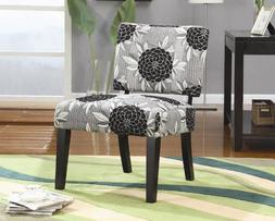 Modern Style Square Accent Armless Chair With Square Tapered