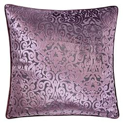Homey Cozy Modern Velvet Throw Pillow Cover,Plum Purple Luxu