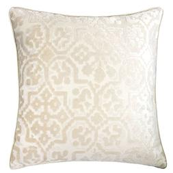 Homey Cozy Modern Velvet Throw Pillow Cover,Ivory White Luxu
