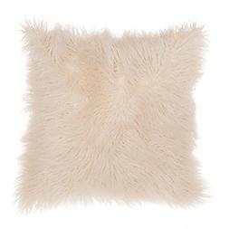 SLPR Mongolian Faux Fur Throw Pillow Cover  | Decorative Sof