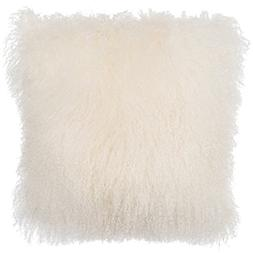 SLPR Mongolian Lamb Fur Throw Pillow Cover  | Real Fur Decor
