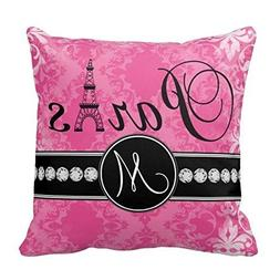 Decors Monogram Throw Pillow Case Cushion Cover Home Sofa De