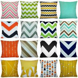 Geometric Multi-Color Premium Throw PILLOW COVER Sofa Couch