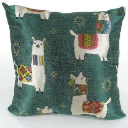 BRENTWOOD Multi-Color TEAL Tapestry LLAMA DRAMA Decorative T