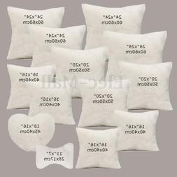 Multi-size Cotton Throw Hold Pillow Inner Pads Inserts Fille