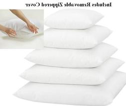 Multiple Sizes - Set of 2 - Poly Pillow Inserts with Zippere