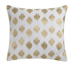 INK+IVY Nadia Dot Metallic Gold Embroidery Pillow - Gold - 1