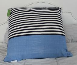 KATE SPADE NAVY BLUE DOUBLE  STRIPED 32X32 DECORATIVE FLOOR