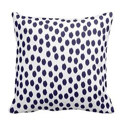 Navy Blue and White Dots Throw Pillows Decorative Geometric