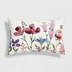 NEW Threshold Floral Lumbar Throw Pillow - Multi Color  18 x