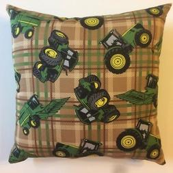 NEW PLAID AND GREEN JOHN DEERE TRACTORS ON COMPLETE 15 X 15