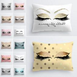 New Pillow Case Glitter Car Sofa Throw Cushion Cover Eyelash