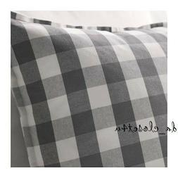 NEW IKEA SMÅNATE Gray White Gingham Cushion Cover SMANATE P