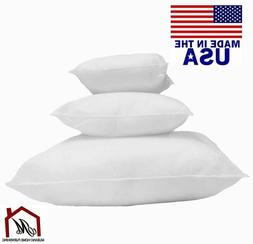 NEW Square Euro Pillow Form Insert- Made In USA Pillow Forms