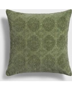 NEW Threshold Stonewashed Chenille Throw Pillow Green 18 x 1