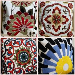 New Vintage Embroidery Cotton Throw Pillow Case Cushion Cove