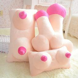Novelty Comfy Women Men Boobs Style Plush Cushion Pillow Jok