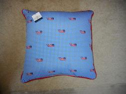 NWT Vineyard Vines For Target Set of 2 Gingham Throw Pillow.
