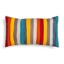 Threshold Ob Multi Taped Throw Pillow 15x27""