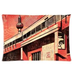 Obey Rent This Space Custom Cotton & Polyester Soft Rectangl