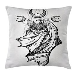 Occult Decor Throw Pillow Cushion Cover by Ambesonne, Noctur