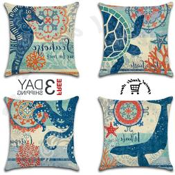 ocean coastal decor throw pillow cover case
