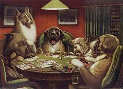 Haehne Oil Painting - Dogs Playing Poker by C. M. Coolidge,