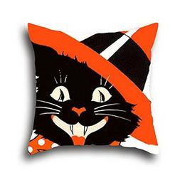 Goling Bbay Oil Painting Black Cats Halloween Cushion Cover
