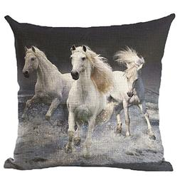 Oil Painting Horse Printed Cushion Cover LivebyCare Linen Co