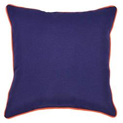 Threshold-Outdoor Throw Pillow Square - Navy/Orange 18x18 in