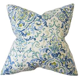 The Pillow Collection P18FLAT-D-QUENTIN-BLUEGREEN-C55L45 Hal