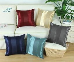 CaliTime Pack of 2 Cushion Covers Throw Pillows Cases Stripe