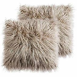pack of 2 decorative faux fur throw