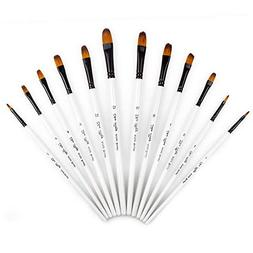 Pulison Painting Brushes 12 PCS Artist Watercolor Profession