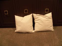 Pair of Home Basic 18x18 down feather Pillow Inserts100% Cot